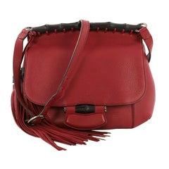 Gucci Nouveau Fringe Crossbody Bag Leather Medium