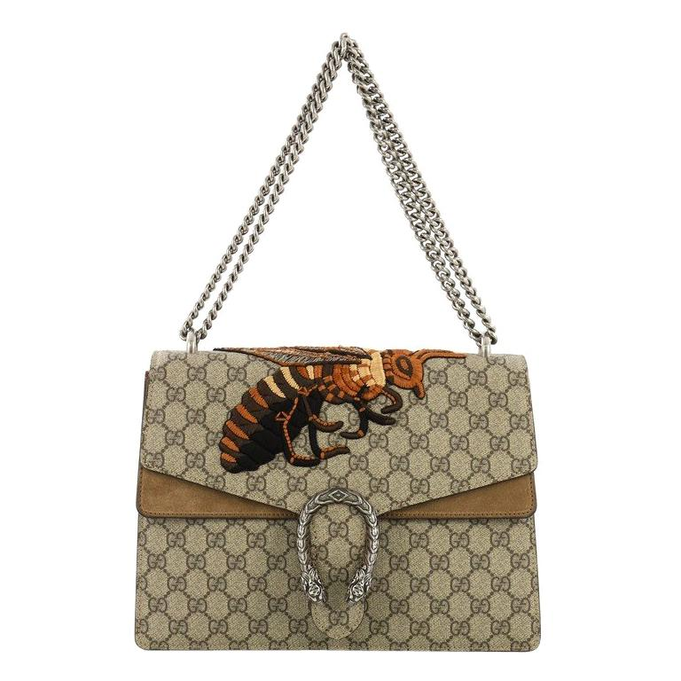 0d79affcc4cc Gucci Dionysus Handbag Embroidered GG Coated Canvas Medium For Sale at  1stdibs