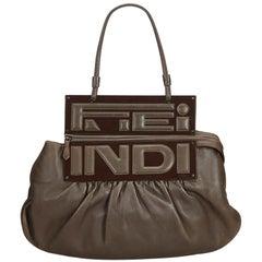 Fendi Brown  Leather To You Convertible Handbag Italy