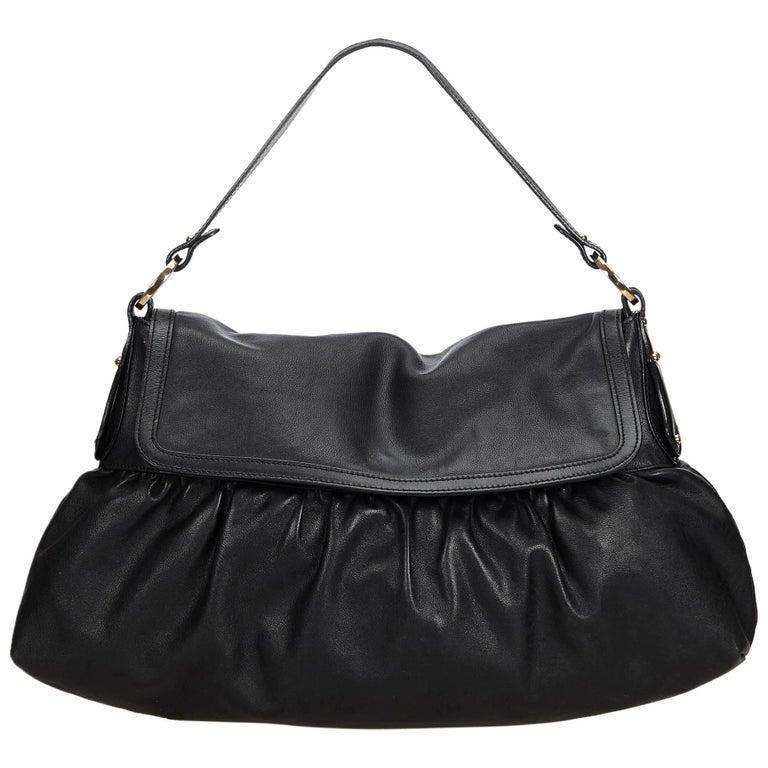 d20f2e8b3c01 Fendi Black Leather Chef Shoulder Bag Italy For Sale at 1stdibs