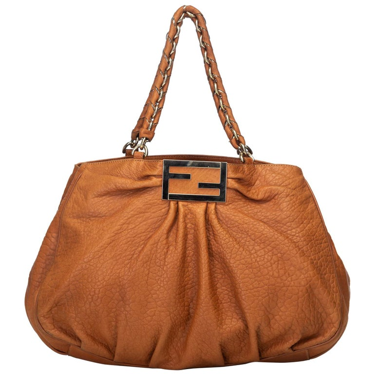0275f9fa7759 Fendi Brown Leather Large Mia Shoulder Bag Italy For Sale at 1stdibs