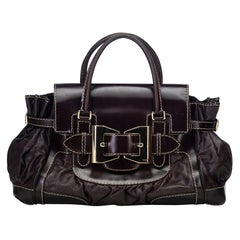 Gucci Brown Dark Brown Leather Dialux Queen Handbag Italy w/ Dust Bag