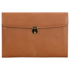 Gucci Brown  Leather Clutch Bag Italy