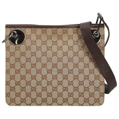Gucci Brown Jacquard Fabric GG Eclipse Crossbody Bag Italy