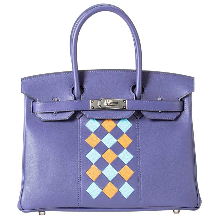 Hermes Birkin 30cm Tresssage with Palladium Hardware For Sale