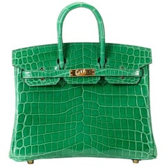 Hermes Birkin 25cm Cactus Alligator with Gold hardware