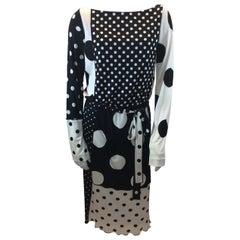 Marc Jacobs Black and White Polka Dot Dress NWT