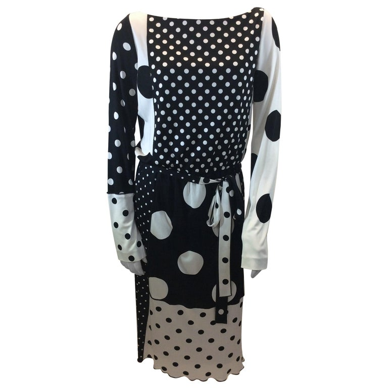 12d0a2ef918b Marc Jacobs Black and White Polka Dot Dress NWT For Sale at 1stdibs