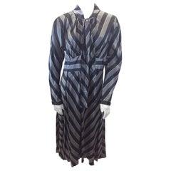 Marc Jacobs Black and Grey Stripe Dress NWT