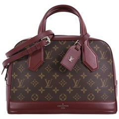 Louis Vuitton Dora Handbag Monogram Canvas and Calf Leather PM
