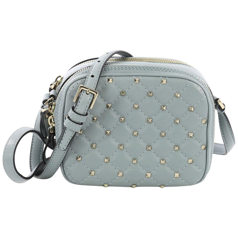 8542cc84e Valentino Rockstud Spike Camera Bag Quilted Leather Mini For Sale at ...