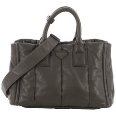 Prada Bomber Convertible Tote Nappa Leather Medium