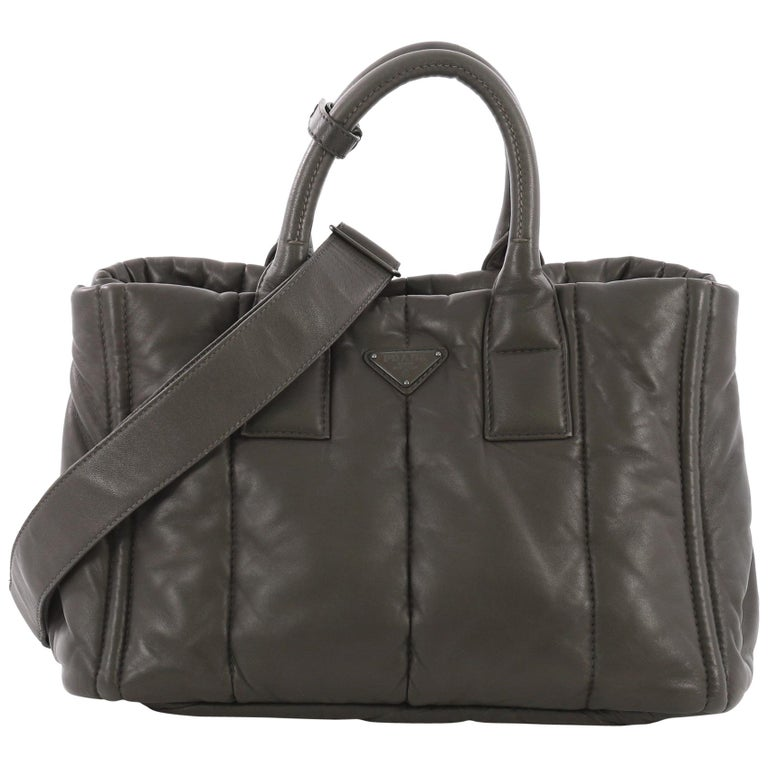 65149aca941e Prada Bomber Convertible Tote Nappa Leather Medium For Sale at 1stdibs