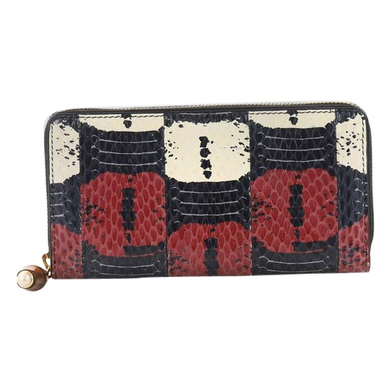 d35c1aa6580672 Gucci Zip Around Wallet Python Long For Sale at 1stdibs