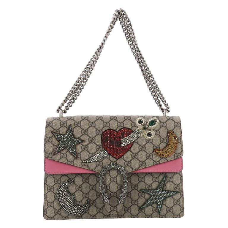 9ca22274e47 Gucci Dionysus Handbag Embellished GG Coated Canvas Medium For Sale ...