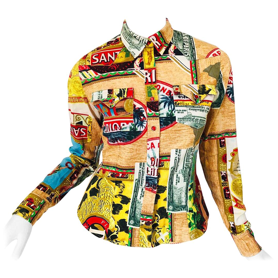 Christian Dior John Galliano Rasta Rastafari Novelty Postcard Denim Shirt Jacket