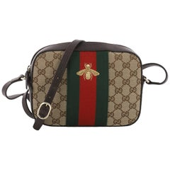 Gucci Bee Web Camera Bag GG Canvas