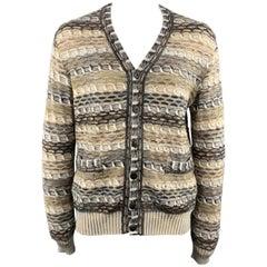 MISSONI Size M Beige Melange Wool / Mohair / Cashmere Buttoned Cardigan