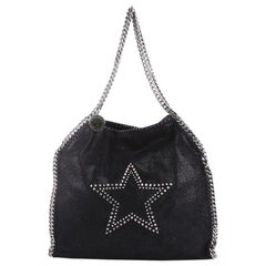 Stella McCartney Falabella Fold Over Bag Studded Shaggy Deer