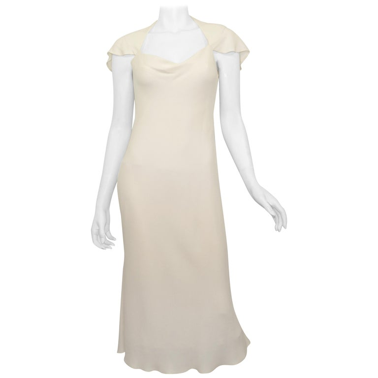 Ralph Lauren Silk Bias Cut Gown Minimalist Dress For