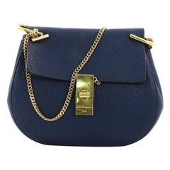 Chloe Drew Crossbody Bag Leather Small, crafted in blue leather