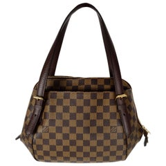 Louis Vuitton Damier Ebene Belem MM Shoulder Bag