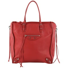 Balenciaga Papier A4 Zip Around Classic Studs Handbag Leather Mini