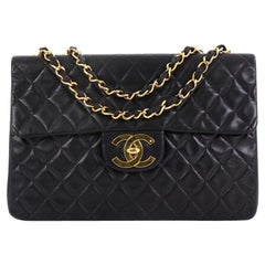 Chanel Classic Single Flap Bag Quilted Lambskin Maxi