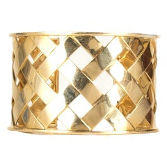 Verdura 18K Yellow Gold Criss Cross Cuff