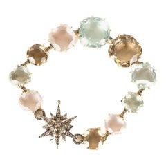 H. STERN  18k Yellow Gold/ Diamond and Gemstone Moonlight Metallic Bracelet