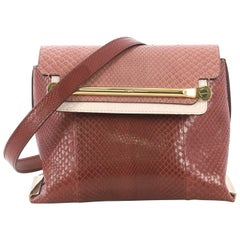 Chloe Tricolor Clare Shoulder Bag Python Small