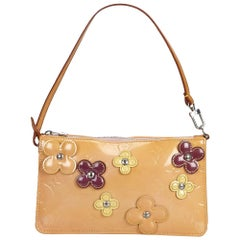 Louis Vuitton Yellow Vernis Lexington Fleurs Pochette France