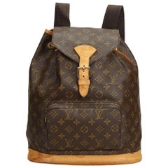 Louis Vuitton Brown Monogram Canvas Canvas Monogram Montsouris GM France