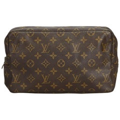 Louis Vuitton Brown Monogram Canvas Canvas Monogram Trousse Toilette 28 France
