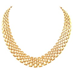 20th Century Gold Plate Link Choker Style Necklace By, Napier
