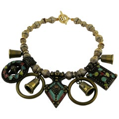 Jean Paul Gaultier Vintage Tribal Charm Necklace