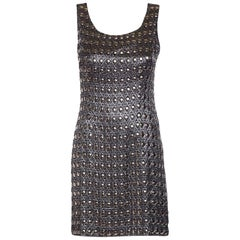 PACO RABANNE  Vintage Silver Shift Dress SZ 6