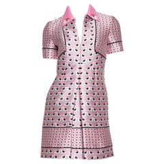 FENDI  Pink Jacquard Monster Dress SZ 36