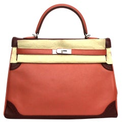Hermes Kelly II Retourne 35 Ghillies Rosy / Rouge H Swift