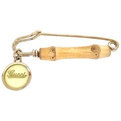 Gucci 1970s Vintage Bamboo Brooch Pin