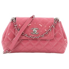 Chanel Coco Shine Accordion Flap Bag Quilted Patent Small