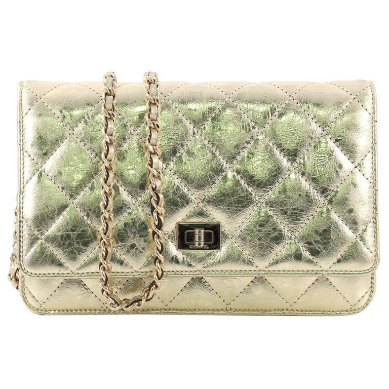 23b613a95231 Chanel Reissue Wallet on Chain Quilted Aged Calfskin For Sale at 1stdibs