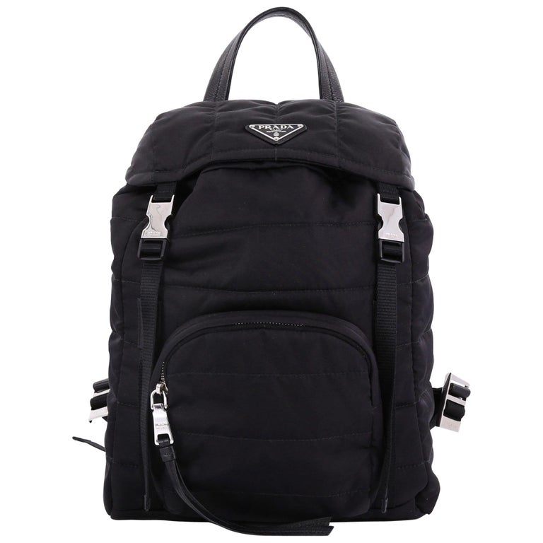 5737afe496a6 Prada Bomber Backpack Tessuto Small For Sale at 1stdibs