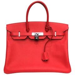 Hermes Birkin 35 Epsom Rouge Casaque