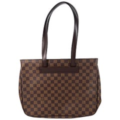 Brown Louis Vuitton Damier Ebene Parioli PM Bag