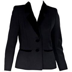 Black Yves Saint Laurent Encore Wool Blazer