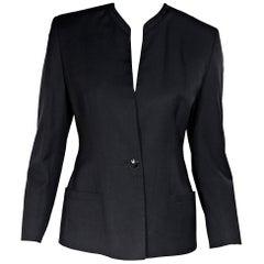 Black Vintage Gianni Versace Couture Blazer