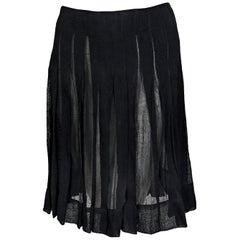 Black Altuzarra Pleated Skirt
