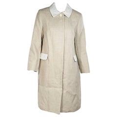Tan Carven Linen Coat