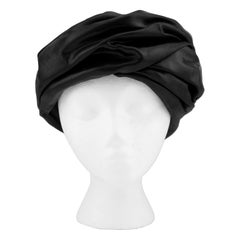 1950s Christian Dior Black Turban